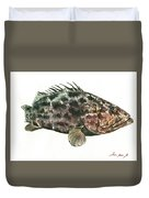 Grouper Fish Duvet Cover