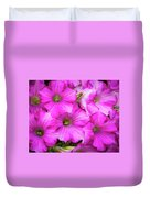 Grouping Of Petunias Duvet Cover