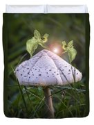 Growing Mushrooms Duvet Cover