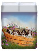 Growing Puppies Duvet Cover