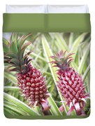 Growing Red Pineapples Duvet Cover