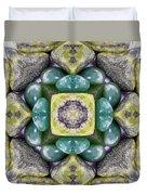 Grren Stones Duvet Cover