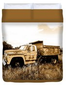 Grump The Ford Dump Truck Duvet Cover