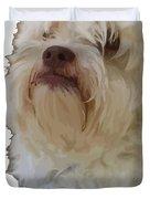 Grumpy Terrier Dog Face Duvet Cover