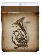 Grunge French Horn Duvet Cover