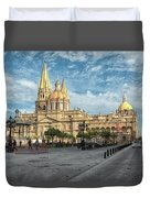 Guadalajara Cathedral Duvet Cover