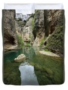 Guadalevin River At El Tajo Gorge From The Bottom Of The Secret  Duvet Cover