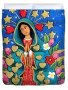 Guadalupe With Stars Duvet Cover