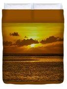 Guam Sunset Duvet Cover