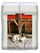 Guard Dog Duvet Cover
