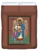 Guardian Angel Guarding Little Elijah Gemmell 191 Duvet Cover