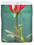 Guardian Of The Rose Duvet Cover