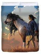 Guardians Of The Plains Duvet Cover