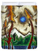 Guardians Of The Wild Original Madart Painting Duvet Cover