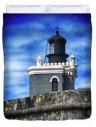Guarding Lighthouse Duvet Cover