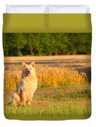 Guarding The Wheat Duvet Cover