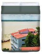 Guayaquil River View Duvet Cover