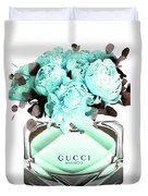 Gucci Blue Perfume Duvet Cover