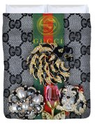Gucci With Jewelry Duvet Cover