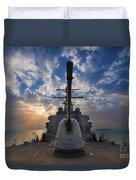 Guided-missile Destroyer Uss Higgins Duvet Cover