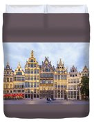 Guild Houses At The Grote Markt Duvet Cover