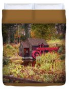Guildhall Grist Mill In Fall Duvet Cover