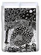 Guinea Fowl Under The Stars Duvet Cover