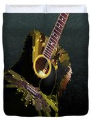 Guitar Abstract Duvet Cover