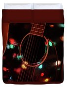 Guitar And Lights Duvet Cover