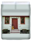 Guitar At Cold Spring Chronicle Duvet Cover