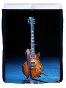 Guitar Blue Duvet Cover