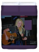 Guitar Girl Duvet Cover