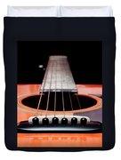 Guitar Orange 19 Duvet Cover