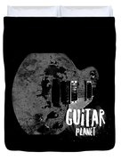 Guitar Planet  Duvet Cover