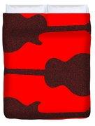 Guitar Silhouette Background Duvet Cover