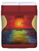 Guitar Suset Duvet Cover