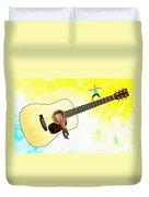 Guitar Workout Duvet Cover