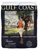 Gulf Coast - Illinois Central - Vintage Poster Folded Duvet Cover