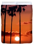 Gulf Coast Sunset Duvet Cover