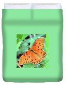 Gulf Fritillary Butterfly Cropped Duvet Cover