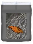 Gulf Fritillary Butterfly In The Brambles Duvet Cover