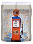 Gulf Gas Pump Duvet Cover