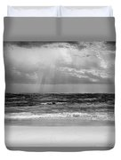 Gulf Of Mexico In Black And White Duvet Cover