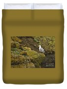 Gull On Cliff Edge Duvet Cover