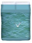 Gull Over The Gulf Duvet Cover