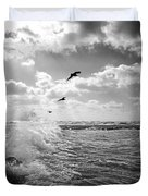 Gulls In A Gale Duvet Cover