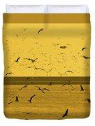 Gulls Orange Tint Duvet Cover