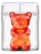 Gummy Bear Red Orange Duvet Cover