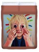 Gummy Eyes Gummy Worms Duvet Cover