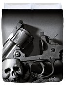 Gun And Skull Duvet Cover